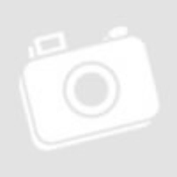 Viola - Sötétkék-fehér csíkos fodros ujjú ruha fekete megkötővel
